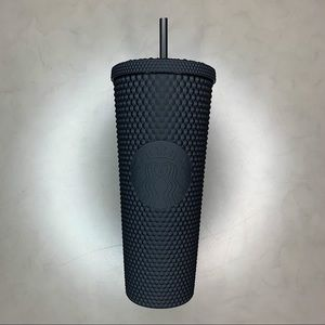 NWT Starbucks Black Matte Spiked Cold Cup Tumbler